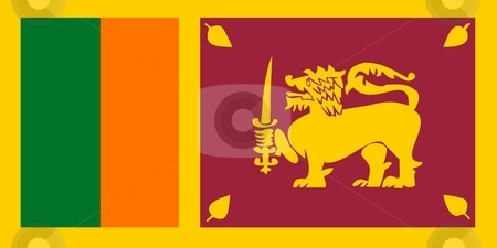 Flag Of Sri Lanka  stock photo, 2D illustration of the flag of Sri Lanka by Tudor Antonel adrian