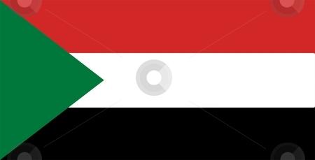 Flag Of Sudan stock photo, 2D illustration of the flag of Sudan by Tudor Antonel adrian