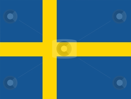 Flag Of Sweden stock photo, 2D illustration of the flag of Sweden by Tudor Antonel adrian