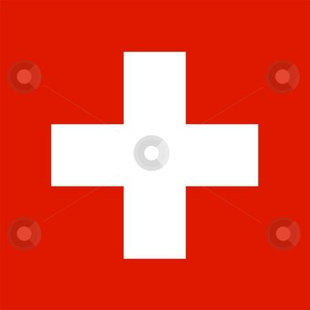 Flag Of Switzerland stock photo, 2D illustration of the flag of Switzerland by Tudor Antonel adrian
