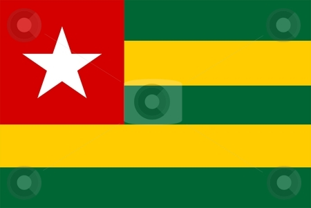 Flag Of Togo stock photo, 2D illustration of the flag of Togo by Tudor Antonel adrian