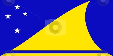 Tokelau Flag stock photo, 2D illustration of the flag of Tokelau vector by Tudor Antonel adrian