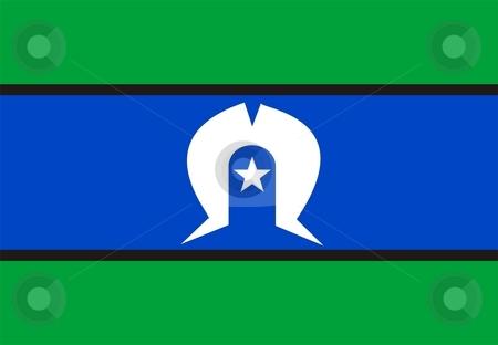 Flag Of Torres Strait Islander stock photo, 2D illustration of the flag of Torres Strait Islander by Tudor Antonel adrian