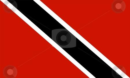 Flag Of Trinidad And Tobago  stock photo, 2D illustration of the flag of Trinidad And Tobago by Tudor Antonel adrian
