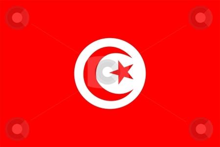 Flag Of Tunisia stock photo, 2D illustration of the flag of Tunisia by Tudor Antonel adrian