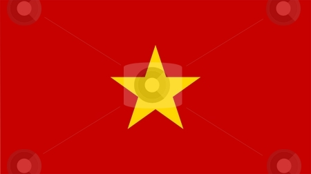 Flag Of Vietnam stock photo, 2D illustration of the flag of Vietnam by Tudor Antonel adrian