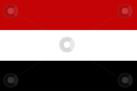 Flag Of Yemen stock photo, 2D illustration of the flag of Yemen by Tudor Antonel adrian