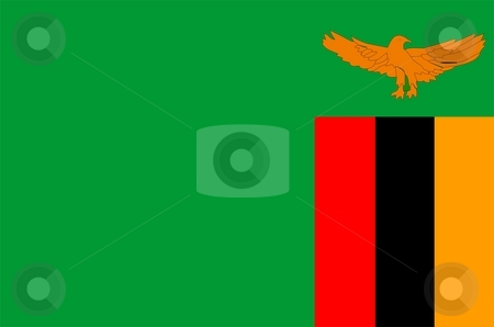 Flag Of Zambia stock photo, 2D illustration of the flag of Zambia by Tudor Antonel adrian