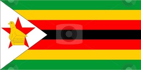 Flag Of Zimbabwe stock photo, 2D illustration of the flag of Zimbabwe by Tudor Antonel adrian