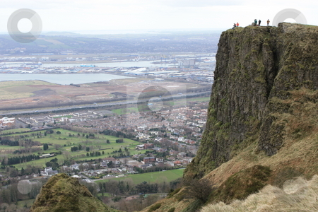Overlooking Belfast stock photo, Cave Hill the highest point in Belfast, Northern Ireland by ANDREW NORRIS