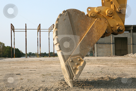 Up Close With a Back Hoe stock photo, Back Hoe, up Close at Construction Site by Gregg Cerenzio