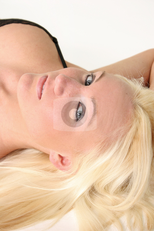 Looking at you stock photo, Blond Looking into the Camera by Gregg Cerenzio