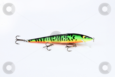 Fishing Lure_3 stock photo, Fishing lure on a white background. by W. Paul Thomas