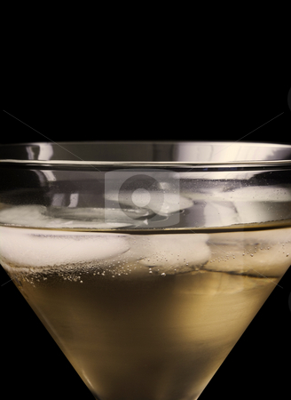 Close up of champagne in glass stock photo, Close up of Champagne in glass on white background by John Teeter