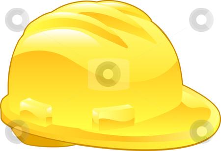 Shiny Yellow Hard Hat Illustration stock vector clipart, An illustration of a shiny yellow hard hat by Christos Georghiou