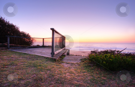 Seascape Dawn stock photo, Sunrise by the beach in Tathra, NSW by Christopher Meder
