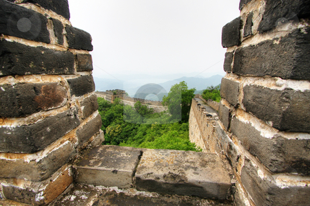 Great Wall of China stock photo, Great Wall of China on a clear day by Christopher Meder