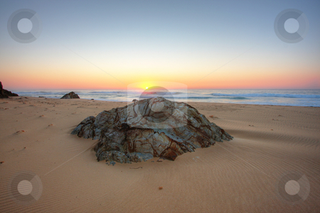 Sunrise Rocks stock photo, Sunrise by the beach in Tathra, NSW by Christopher Meder