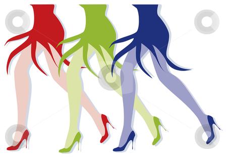 Female legs stock vector clipart, Female legs walking by Julia Shentseva