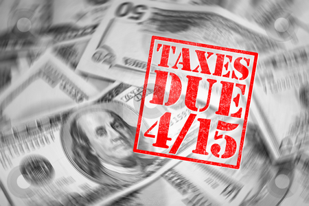 Tax Time stock photo, A tax time themed montage for US taxpayers warning about the due date of April 15 by Todd Arena