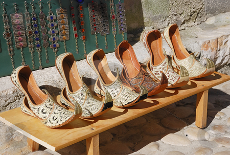 Turkish shoes stock photo, Authentic Turkish woman's shoes in Bosnia and Herzegovina. by Ivan Paunovic