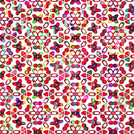 Vibrant colored stars pattern stock photo, Abstract texture of vribrant colored stars and shapes by Wino Evertz