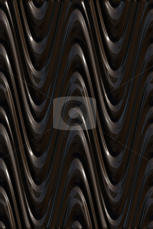 Dark 3d waves pattern stock photo, 3d texture of creamy chocolat brown curves by Wino Evertz