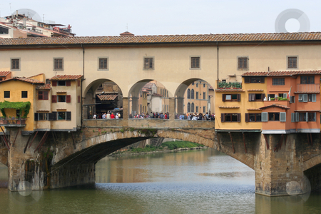 Ponte Vecchio stock photo, Oldest bridge in Florence by Helen Shorey