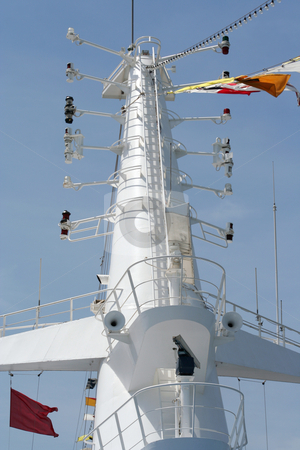Ships Mast stock photo, Mast of a cruise ship by Helen Shorey