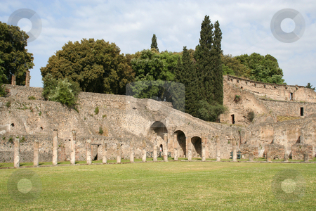 Ruins at Pompeii stock photo, Near Naples, Italy by Helen Shorey