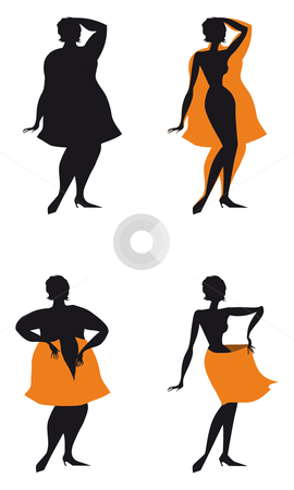 Changes after diet stock vector clipart, Changes of woman's sizes affer diet by Vanda Grigorovic