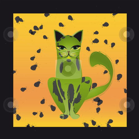 Cats stock photo, Illustration by Natacha Audier