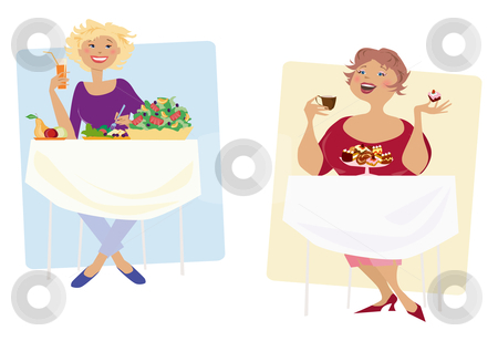 Diet stock vector clipart, Two different diets by Vanda Grigorovic