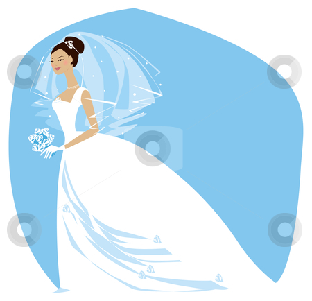 Bride is ready2 stock vector clipart, Beautiful bride is ready for wedding ceremony by Vanda Grigorovic