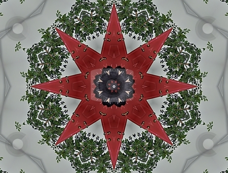 Christmas Mandala stock photo, Christmas Mandala, Background, Pattern, Texture, by Dazz Lee Photography