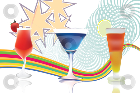 Cocktail  stock vector clipart,  by Adelina Green