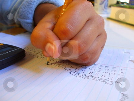 Child Doing Homework stock photo,  by Michael Felix