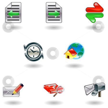 Shiny internet browser icon set stock vector clipart, A set of shiny internet browser icons by Christos Georghiou