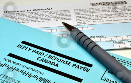 Envelope and form stock photo, Reply paid envelope and Canadian survey form by Fernando Barozza