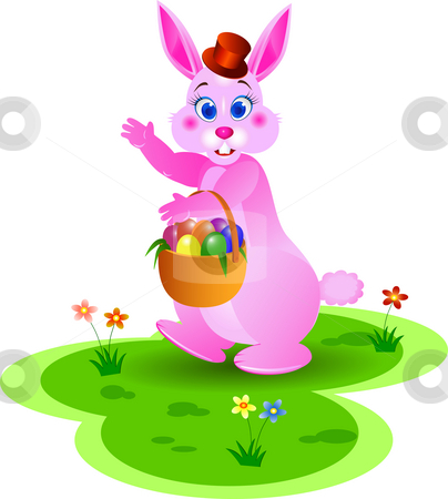 Easter bunny stock photo, Ester bunny illustration by Surya Zaidan