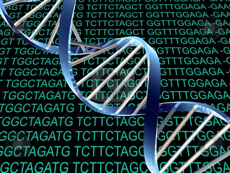 DNA stock photo,  by Rodolfo Clix