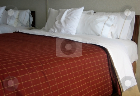 Hotel beds stock photo, Pictures of beds in a hotel by Albert Lozano