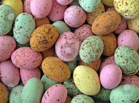 Easter, chocolate sweets. stock photo, Traditional Easter chocolate sweets coated in a hard colourful shell. by Ian Langley