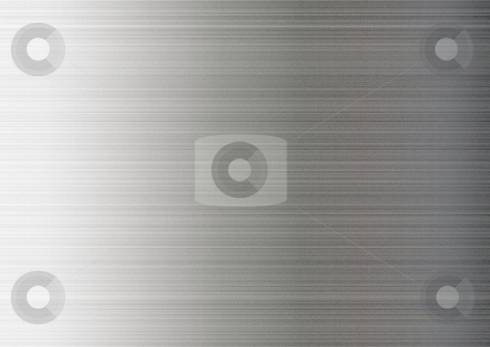 Metal grain stock photo, Aluminium illustrated metal grain background with brushed effect by Michael Travers