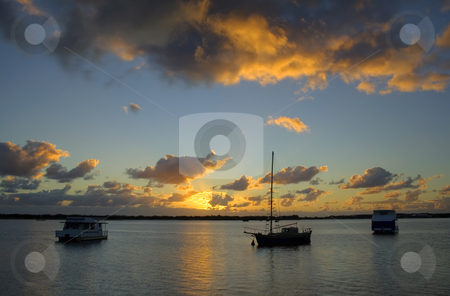 Old Ketch Sunrise stock photo,  by Brett Mulcahy