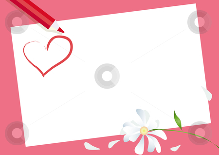 Valentine Card stock vector clipart, Card for Valentine Day by Vanda Grigorovic