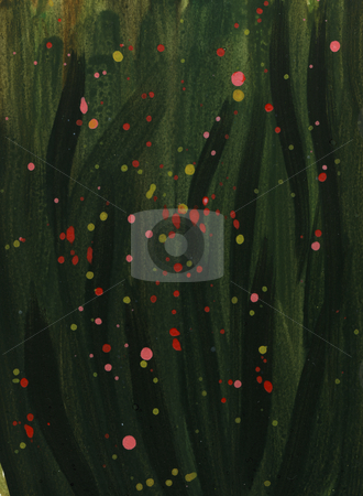 Dark green watercolor background with color splashed stock photo, Dark green abstract watercolor background with red, yellow and pink splashed splashed, hand painted (self made) by Marek Uliasz