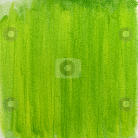 Springtime green watercolor abstract background stock photo, Springtime green watercolor abstract background hand painted with vertical brush strokes (self made) by Marek Uliasz