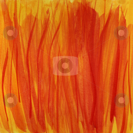 Fire flames, red and yellow watercolor background stock photo, Fire flames, red and yellow handpainted abstract watercolor background (self made) by Marek Uliasz