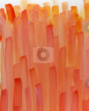 Red, orange, yellow, watercolor abstract  stock photo, Red, orange, yellow, watercolor, abstract background painted with wide vertical brush strokes (self made) by Marek Uliasz
